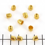 beadcap gold - 6 mm
