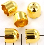 kralenkap goud - 18 mm
