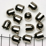 beadcap silver - 9 mm