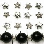 beadcap star - silver