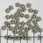 daisy spacer - 5 rounds silver