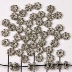 daisy spacer - 7 rounds silver