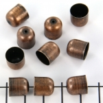 kralenkap brons glad rond - 9 mm