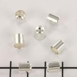 kralenkap - 6 mm lichtzilver