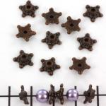 beadcap star - brass