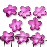 acrylic faceted flower - purple