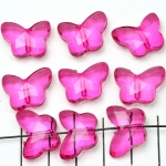 acrylic faceted butterfly - fushia dark pink