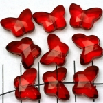 acrylic faceted butterfly - red
