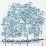 acrylic faceted conical 6 mm ab - blue