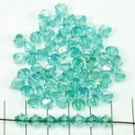 acrylic faceted conical 6 mm ab - turquoise