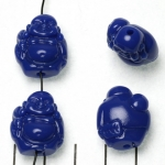 happy buddha traveling - dark blue