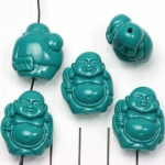 happy buddha traveling - turquoise