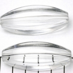 acrylic oval 51 mm - transparent