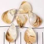schelphanger druppel - beige naturel