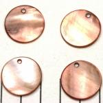 zoetwater schelp dik rond plat 20 mm - bruin