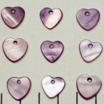 schelp hart - lila paars