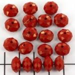 kunststof facet rondel 8 mm - opaque rood