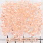acrylic faceted conical 6 mm - salmon pink