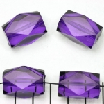 acylic faceted oblong - purple