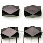 acylic faceted oblong - black
