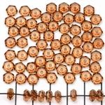 acrylic faceted flat round - brown