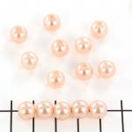 kunststof parels rond 8 mm - zalmroze