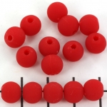 plastic mat round 8 mm - red