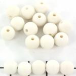 kunststof mat rond 8 mm - creme wit