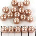 acrylic pearls round 10 mm - antique rose