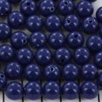 kunststof rond 10 mm opaque - donkerblauw