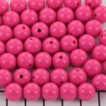 kunststof rond 10 mm opaque - pink flambé