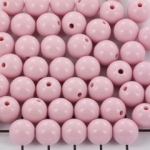 acrylic round 8 mm opaque - rose smoke