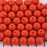kunststof rond 10 mm opaque - tangerine tango