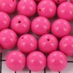 kunststof rond 14 mm opaque - pink flambé