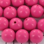 kunststof rond 18 mm opaque - pink flambe