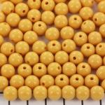 kunststof rond 8 mm opaque - honey gold