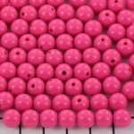 acrylic round 8 mm opaque - pink flamb�