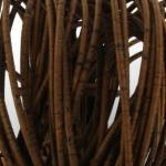 Kurk koord 3 mm rond gestikt - bruin
