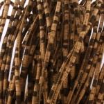 kurk koord 3 mm rond gestikt - zebra bruin
