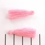 kwastje 30 mm - roze