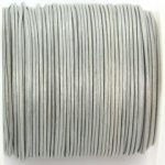 leer 1 mm - metallic zilver