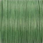 leer 2 mm - metallic appel groen