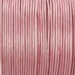 leather 2 mm - metallic pink