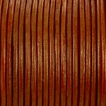 leer 2 mm - metallic oranje