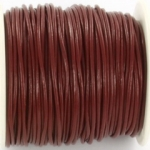leather 2 mm - brown red