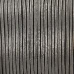 leather 2 mm - metallic dark silver