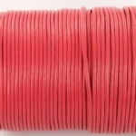 leather 2 mm - coral pink