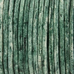 leer 3 mm - turquoise green distressed