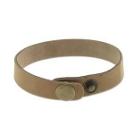 leren armband 14 mm - natural
