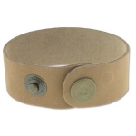 leren armband 40 mm - naturel
